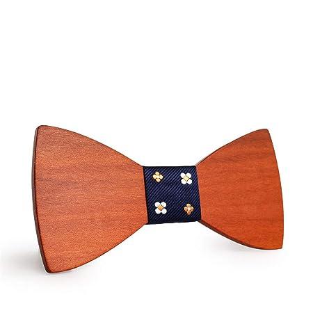 Pajarita de madera para hombre Corbata de lazo para hombres ...