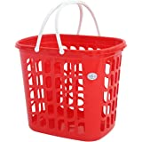JCP JC-4211 Rectangle Laundry Basket with Handle, Red