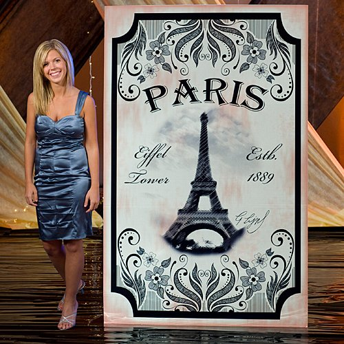 Vintage Paris France Eiffel Tower Standee Party Prop Standup Photo Booth Prop Background Backdrop Party Decoration Decor Scene Setter Cardboard -