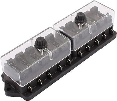 Aexit 32V 10 vías Lateral Caja de fusibles Circuito Tenedor de cuchilla estándar (model: U5690IXII-7375VZ) Bloque Coche Camión: Amazon.es: Bricolaje y herramientas