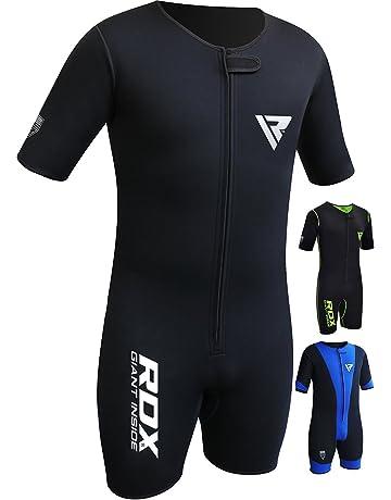 RDX Fitness Néoprène Combinaison Sudation Survêtement Minceur Entraînement  Sauna Suit Perte De Poids 6860f7b7977