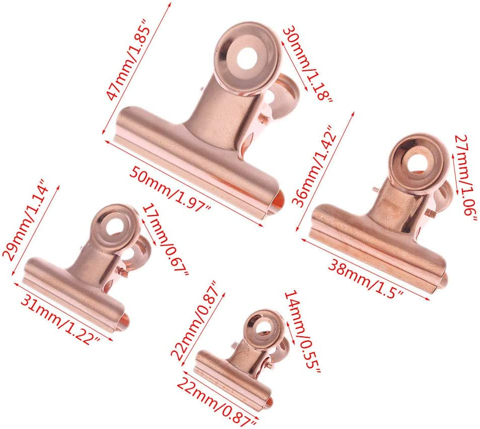 Or Rose 4 Tailles Pack of 5 Manyo Pinces /à Dessin Spring Clip Acier Inoxydable