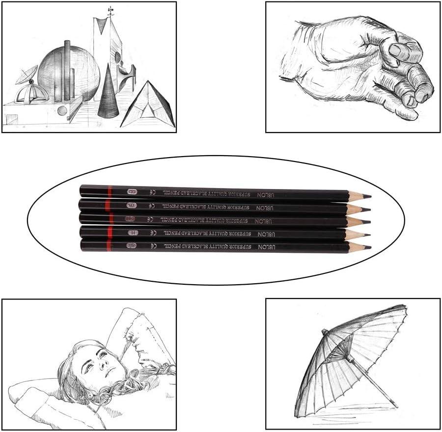 12pcs//Set 2H-8B Sketch Painting Pencil Set Student Art Supplies Drawing Pencils