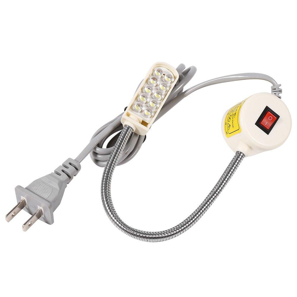 Lampada da Cucire a Collo di Cigno Lampada Magnetica Interruttore Base Flessibile Montaggio 10/19/20 Leds Luci per Abbigliamento per Macchine da Cucire a LED(S) Fdit