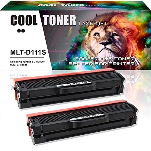 Cool Toner 2 Pack Compatible Toner for Samsung 111 111S MLT-D111S Noir Cartouche Imprimante Samsung Xpress SL-M2078W SL-M2026W SL-M2070W SL-M2078W SL M2070 M2070W M2070FW M2070 M2026W M2020W M2078W 2070 M2022 Toner