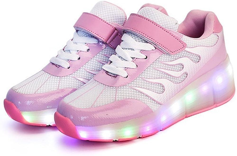 24XOmx55S99 Girls Boys LED Light Single Wheel Retractable Roller Skate Shoes Kids Sneakers