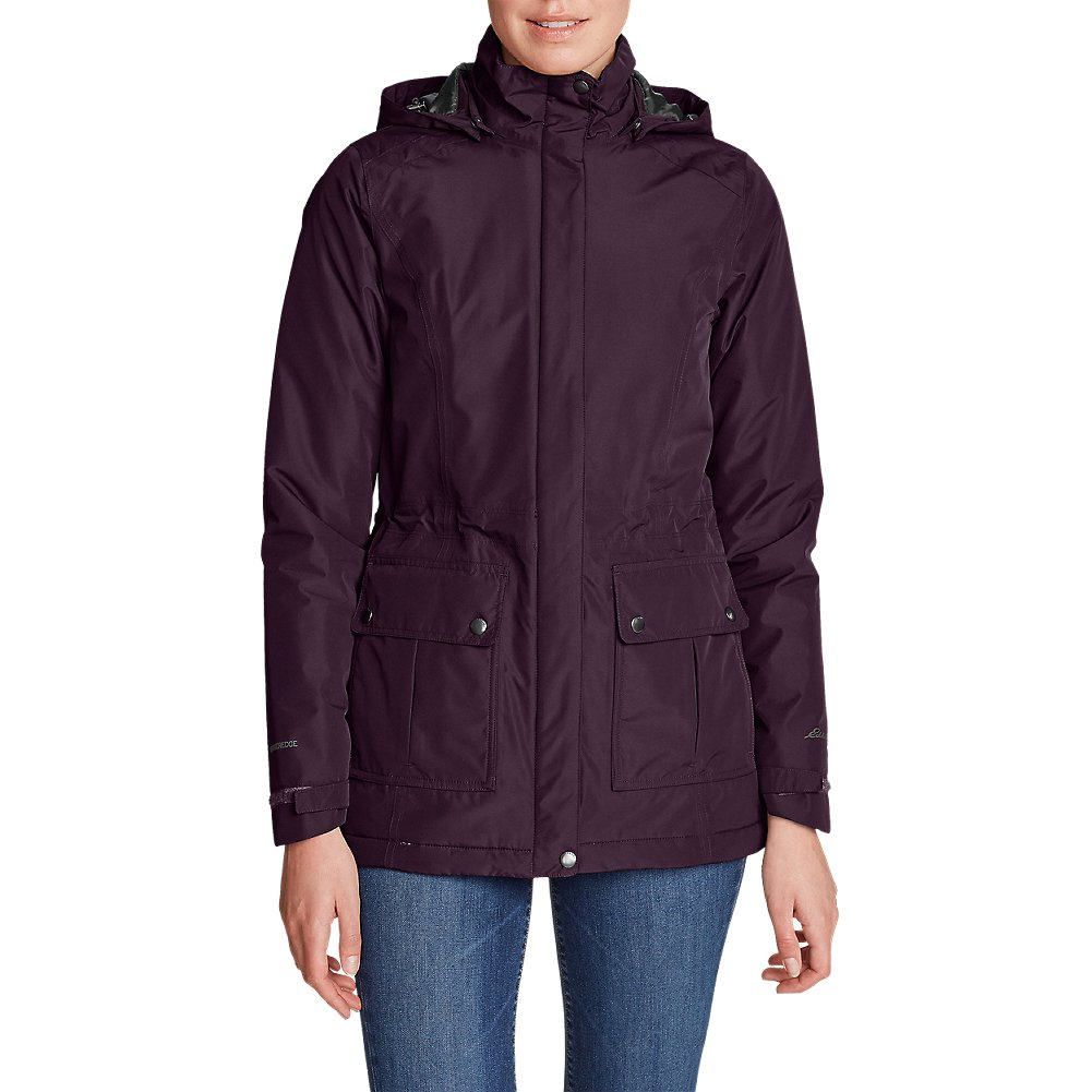 Eddie Bauer Women's Rainfoil Fleece-Lined Parka, Dk Plum Plus 2X by Eddie Bauer