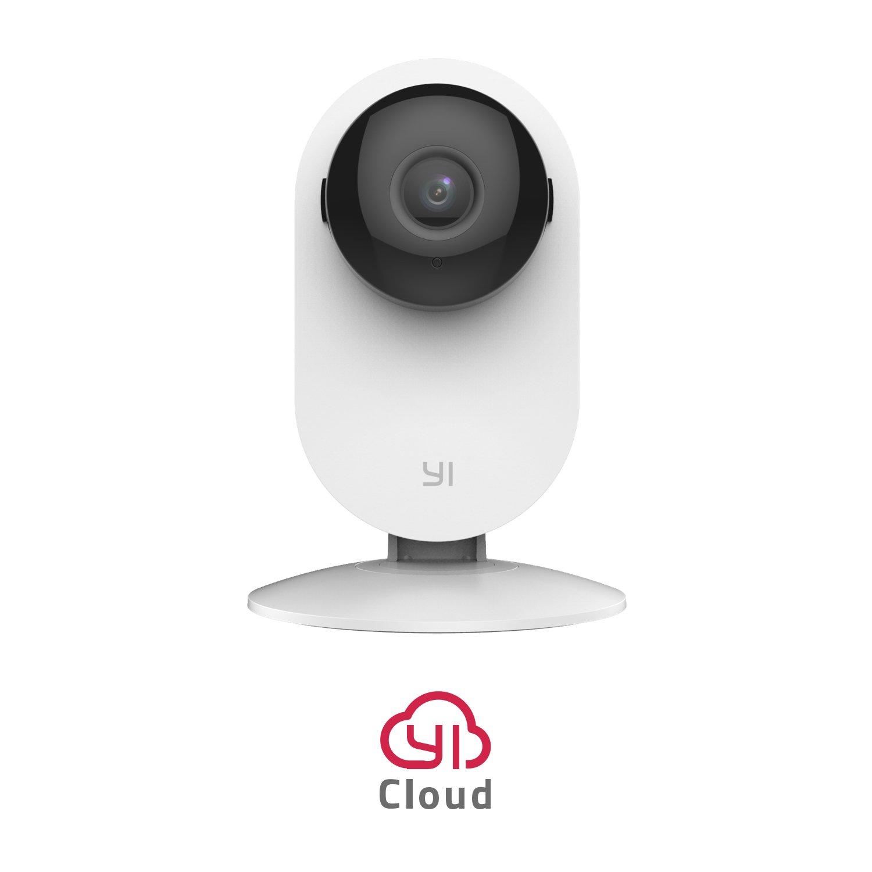 Cámara de vigilancia para el hogar, de YI, 720p, inalámbrica, visión nocturna, detector de movimiento, 2vías de audio, monitor para la casa, bebés y mascotas, funciona por wifi y aplicación para teléfono móvil y PC, blanca