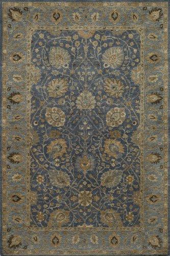 - Momeni Rugs ZARINZR-03BLU2030 Zarin Collection, 100% Wool Hand Tufted Traditional Area Rug, 2' x 3', Blue