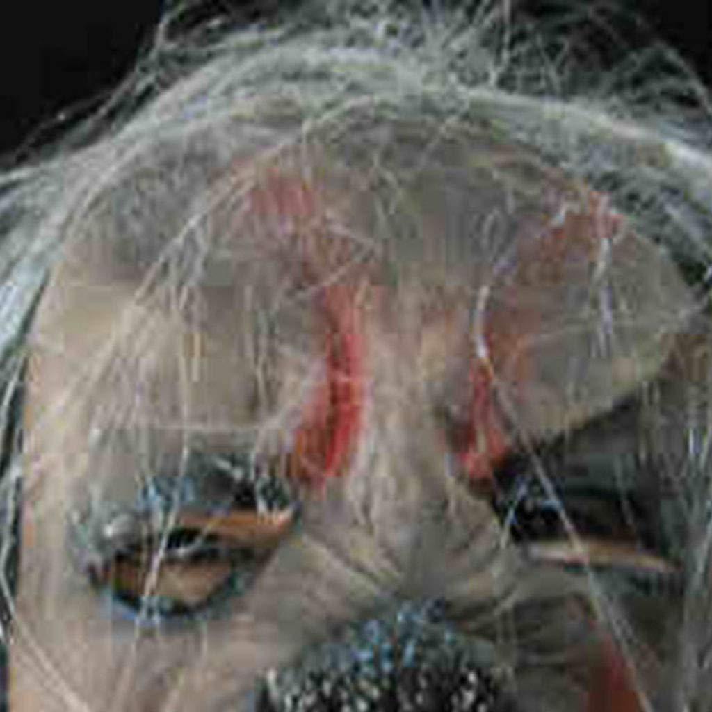 Halloween Halloween Halloween Weihnachten Maskerade Maske Party Grimasse Silikon Simulation Maske Horror Lange Haare Maske Masken (Farbe : grau, Größe : 18  21CM/7  8inch) 0e2e32