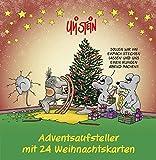 Adventsaufsteller mit 24 Weihnachtskarten