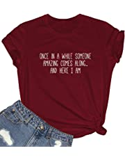 BLACKMYTH Women Cute Tees Graphic Funny Girl Tshirts