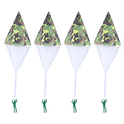Tomaibaby 4pcs Parachute Toy, Tangle Free Throwing Toy Mini Soldier Parachute Toy Outdoor Childrens Flying Toys: Health & Personal Care