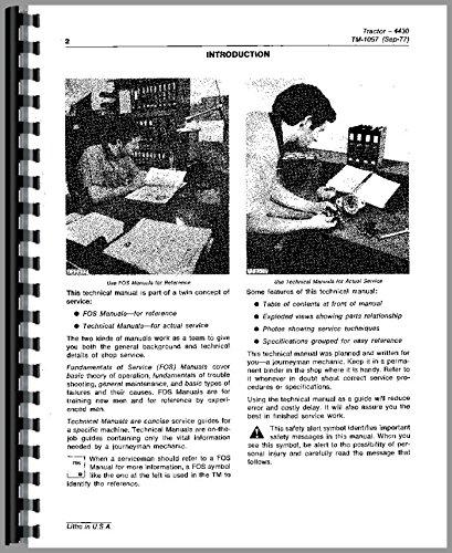 - Service Manual John Deere 4430 4630 Tractor Technical tm1172