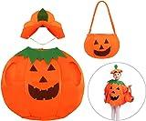 DERAYEE Cute Halloween Pumpkin Costume Party Dress for Kids