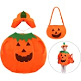 DERAYEE Cute Halloween Pumpkin Costume Party Dress for Kids
