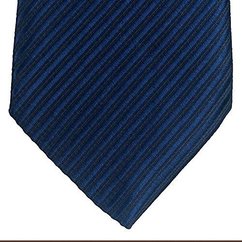 Retreez Woven Boy's Tie with Stripe Textured (8-10 years) - Navy Blue by Retreez (Image #1)
