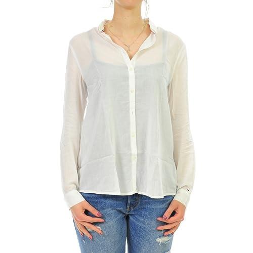 Tommy Jeans Hilfiger Denim Shirt DW0DW02093 Thdw 48 L/S Donna, Woman, Frau, Mujer, Femme