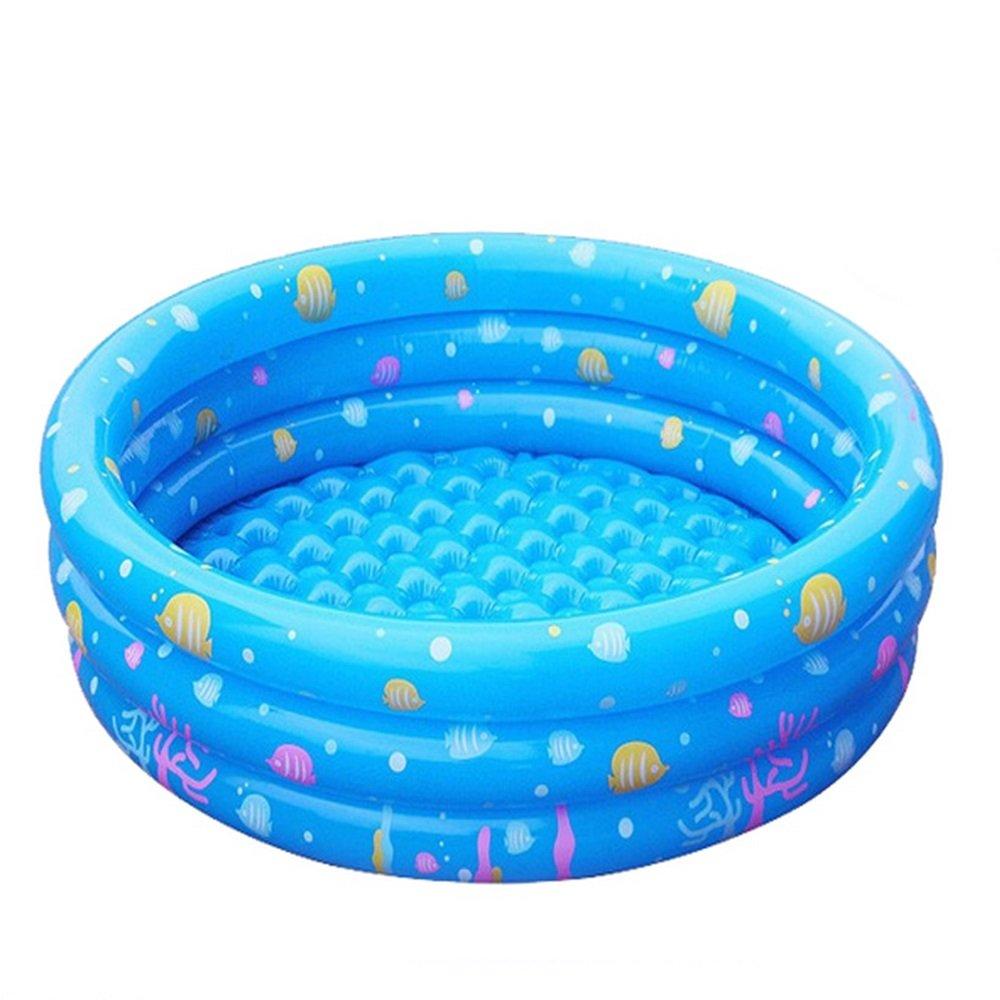 Inflatable Children's Pool Transparent White Material: Environmental PVC Size: 1m, 1.3m, 1.5m Bathtub (Size : 1.3m)