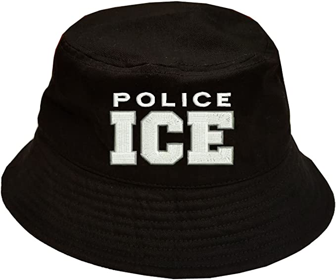 POLICE ICE Immigration and Customs Enforcement LONG CUFF BEANIE HAT MILITARY
