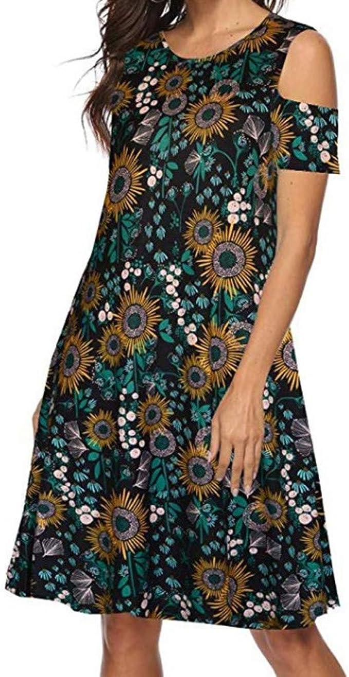Kurze Kleider Damen Kleid Kleider T Shirt Sommerkleid Damen