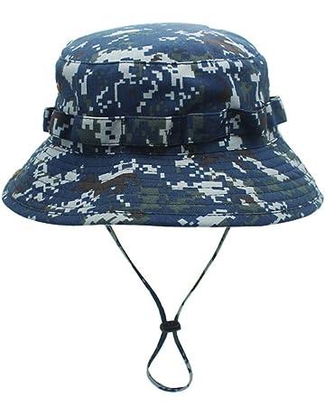 c3502ad7765 Jormatt Boonie Hat Camo Cap Military Hunter Bucket Hats Adjustable Jungle  Bush Hat