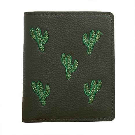 AchidistviQ Lovely Cactus - Monedero de Piel sintética para ...