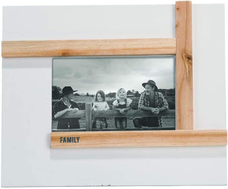 Foreside Home and Garden Family 4 x 6 inch Wood Picture Frame, White, Brown