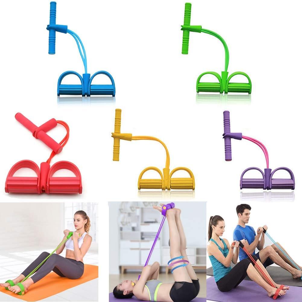 52cm Yoga Fitness Retractor Body4-Tubes Home Exercise Elastic Rope  movement