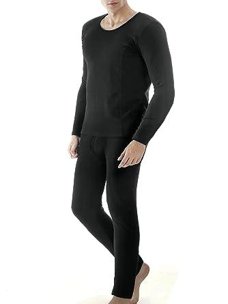 23cdaa1e70c7 Ekouaer Men's Snowboarding Base Layer Leggings Long Thermal Underwear Set( Black,Small)