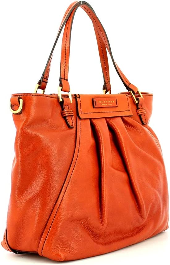 The Bridge Ginori bag with two handles and shoulder strap Ambra Abb. Oro