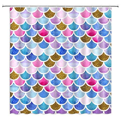 rainbow fish shower curtain - 9