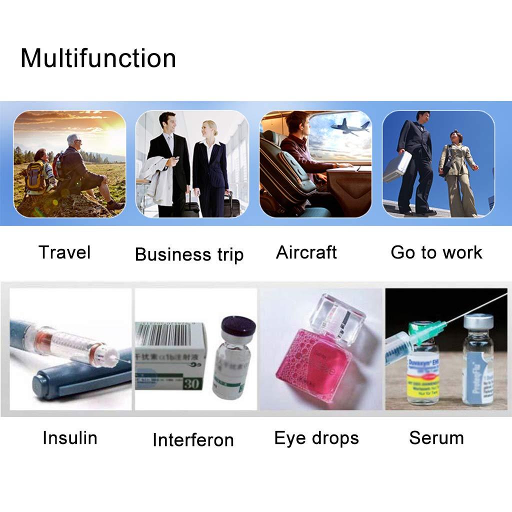 Cassa Portatile per refrigerazione Auto//Piccola Scatola da Viaggio per farmaci Mini Frigorifero per Medicina e refrigeratore per insulina per Auto Viaggi casa