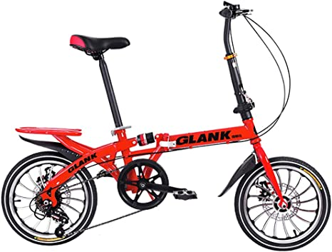 Brothers HouseYX Bicicleta Plegable niño Adulto Bicicleta 16 ...