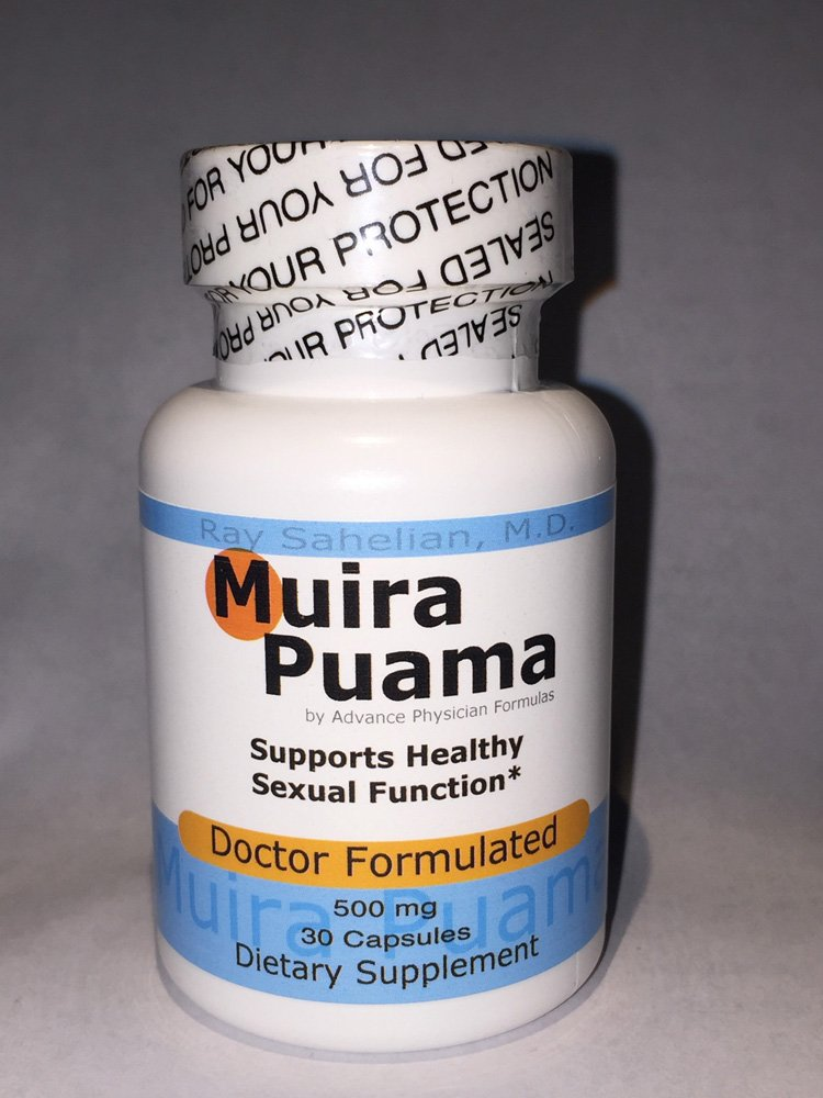 Muira Puama Extract, 500 mg, 30 Capsules, Potency Wood Libido Supplement for Men and Women - Endorsed by Dr. Ray Sahelian, M.D