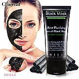 SHILLS Black Mask - Blackhead Remover Purifying Charcoal, Peel-off Black Mask, Acne Treatment Quality Black Peel off - Best Mud Facial Mask (black mask)