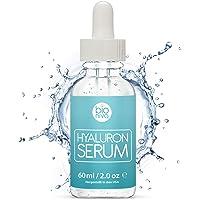 Bioniva Hyaluronsäure Anti-Aging Gesichtsserum mit organischen Inhaltsstoffen, Vitamin C/E und Grüner Tee für alle Hauttypen, 1er Pack (1 x 60 ml)