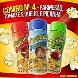 Combo nº 4 - Parmesão, Picanha, Tomate e Queijo (MAIS 100g milho de pipoca)