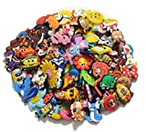 Lot of 100 Pcs PVC Different Random Shoe Charms for Croc & Bands Bracelet Wristband