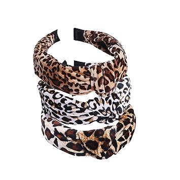 Head Tie Women Leopard Print Headband Hair Hoop Twist Knot Hairband Turban