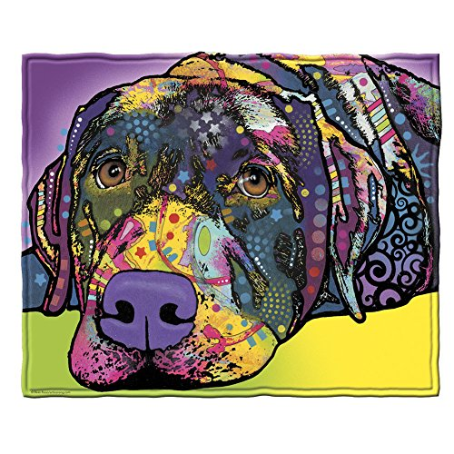 - Dawhud Direct Dean Russo Savvy Lab Fleece Throw Blanket