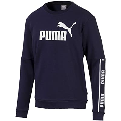 PUMA Men's Amplified Crew French Terry Sweatshirt at Men's Clothing store