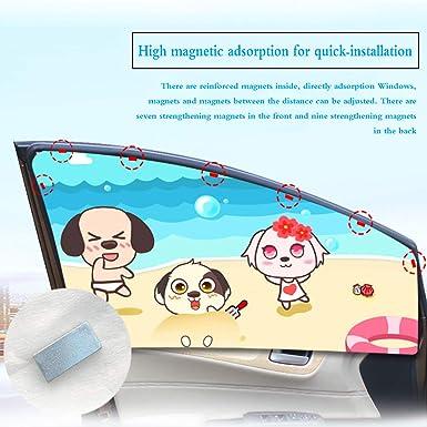 Magnetverschluss Auto Sonnenschutz Vorhang f/ür Seite Fenster f/ür Baby Kinder Kinder