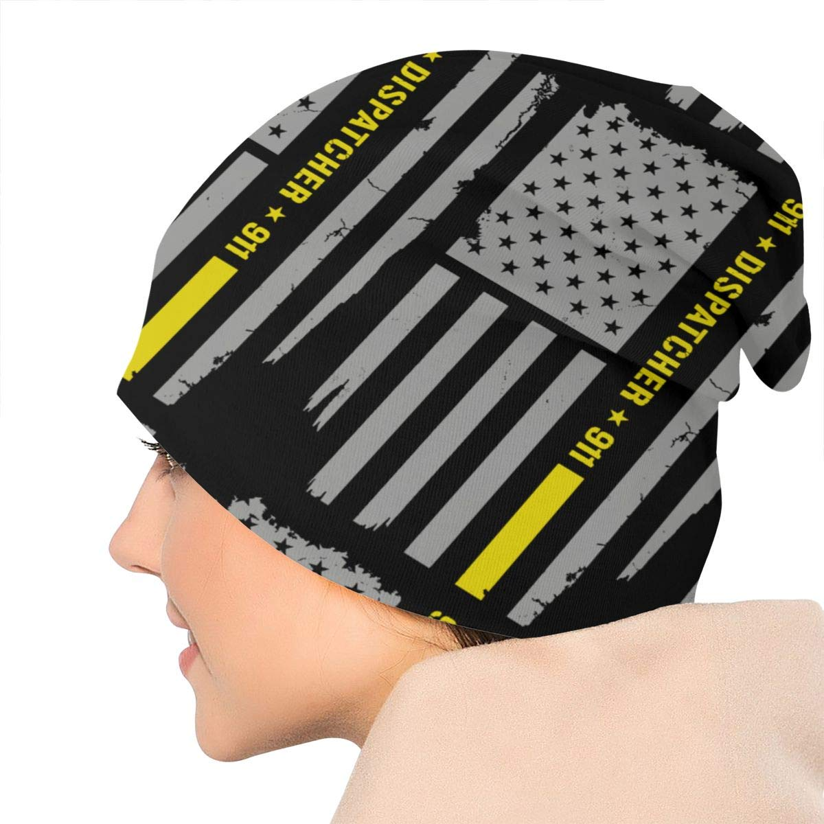 EleHtynqkakqo 911 Dispatcher Thin Gold Line Hat Hooded Hat Knit Hat Hat Skull Hat Knitted Hat Beanie Cap