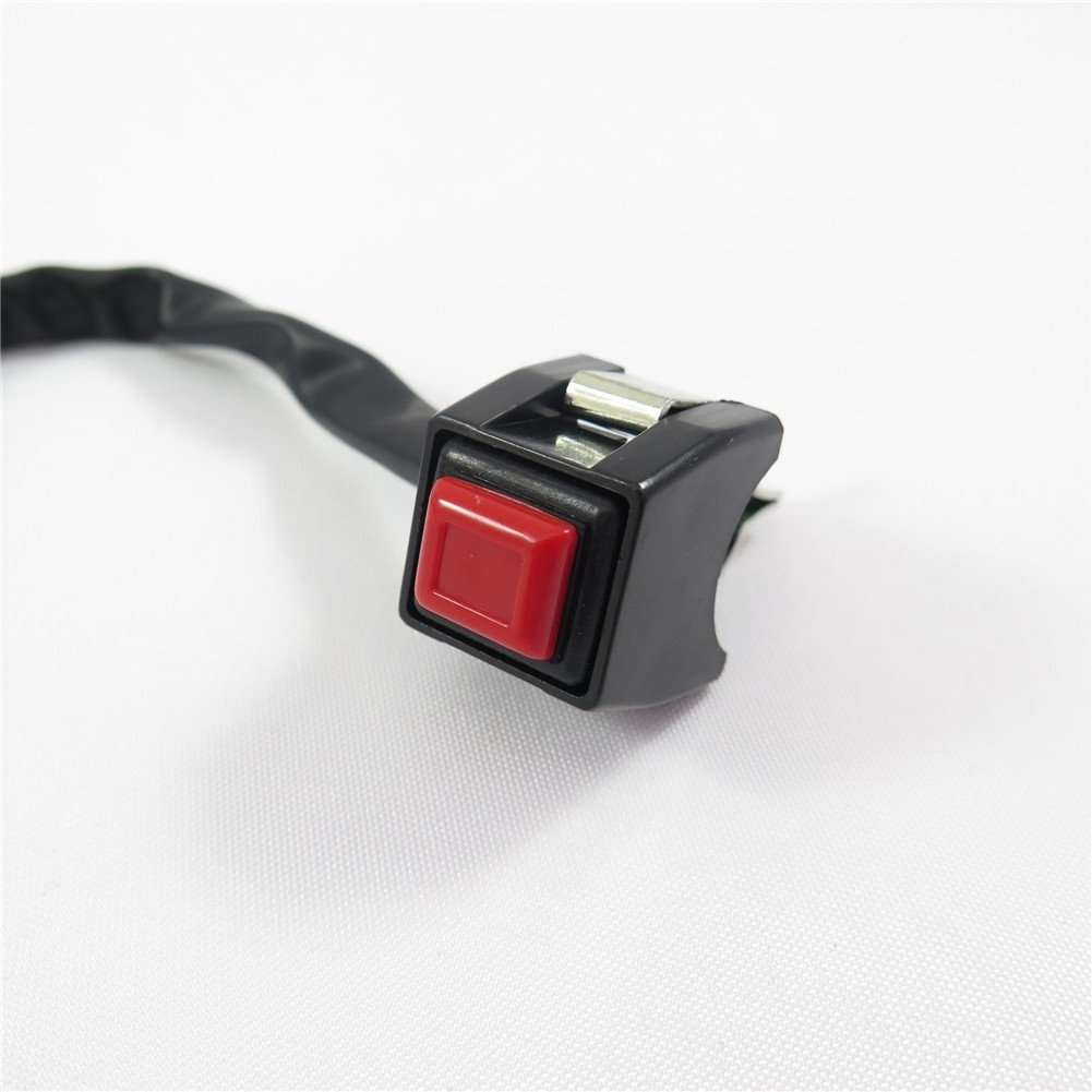 Universal Red 7/8' Handlebar Starter / Kill Cut Off Stop Switch Push Button For Motorcycles ATVs Scooters Snowmobiles XKMT