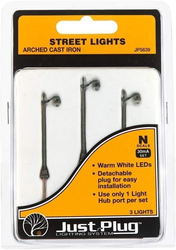 Arched Cast Iron Woodland Scenics WOOJP5639 N Street Lights 3