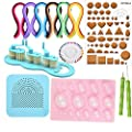 DOYOLLA Paper Quilling Kit Assorted Colors with 7 DIY Quilling Tools and 36 Colors 720 Strips Quilling Paper Set