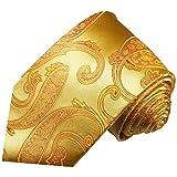 Paul Malone Paisley Necktie 100% Silk Gold