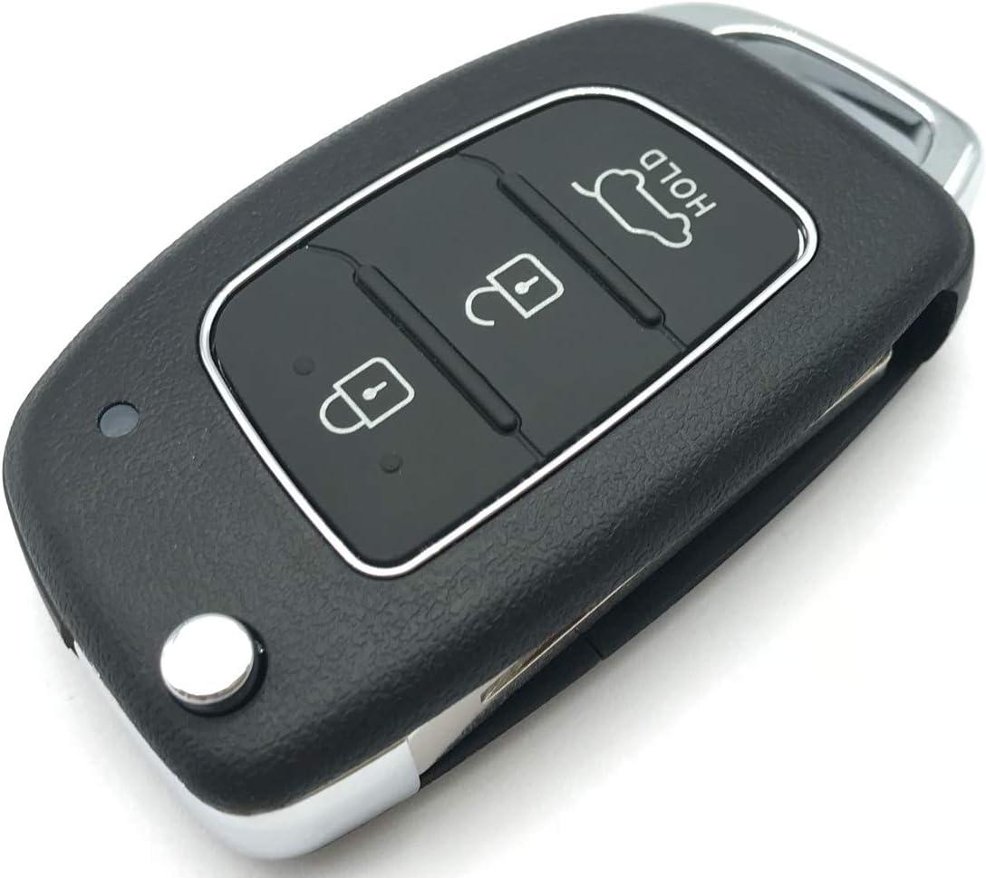 Replacement Keyless Entry Flip Folding Key Fob Case Shell Fit for Hyundai Santa fe Sonata Tucson Key Fob Cover