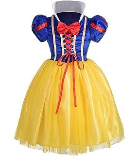 Disfraz de blancanieves para niña, Carnaval, Halloween ...